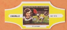 1974 World Cup Cigar Band West Germany Paul Breitner (Yellow)
